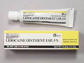 Picture LIDOCAINE 5% OINTMENT 35.4GM | Drug Information | Pharmacy