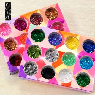 24 botes Mini lentejuelas (1mm) Multicolor para decorar uñas y otros