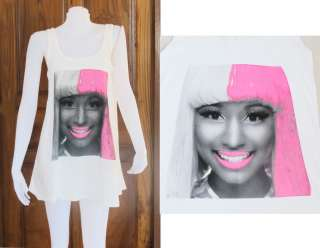 Nicki Minaj Super Bass Dance Party Art WOMEN T SHIRT DRESS Tank TOP
