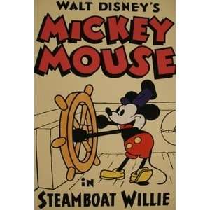 Mickey Mouse Walt Disney Productions Short Film Poster Mickey Mouse