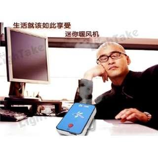 Portable Handheld Mini Warm Air Fan Warmer Heater Blue