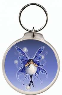 Bubble Rider Fairy Amy Brown Fantasy Art Key Chain