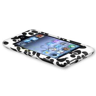case compatible with apple ipod touch 4th generation black white paw