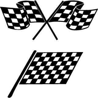 Classic Racing Flag Vinyl Decal Car Boat Window Sticker