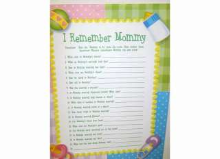 Lot 24 BABY SHOWER PARTY GAME Tell Me a Story About