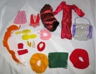 VTG 1963 BARBIE & KEN Doll Case & Clothing/Accessories