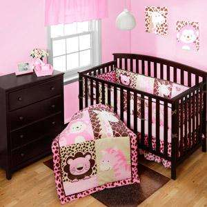 Kidsline Zanzibar Jungle Animals Safari Crib Bedding Dust