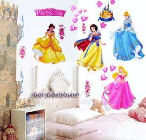 PRINCESS   Removable Wall Stickers Decals Girls Bedroom