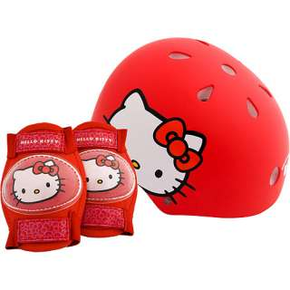 Hello Kitty Childs Bike Helmet & Safety Pads   Value