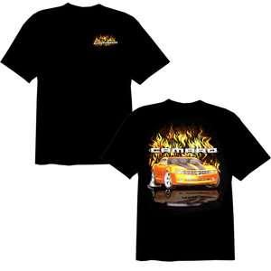 CHEVY CAMARO FLAME BLACK W/ RED CAR TEE SHIRT