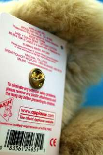 Susan Bear For Cause Breast Cancer Pin Pink Ribbon Plush Teddy NWT B