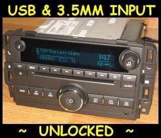 2007 2011 Chevy TAHOE Silverado GMC SIERRA CD Radio Ipod USB input & 3