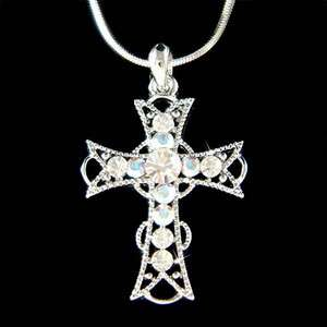 Swarovski Crystal jesus religious god Lord ~Holy CROSS~ Pendant