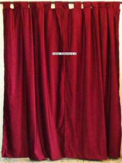Red Velvet Curtains In Curtains Drapes Valances