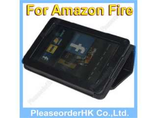 Premium Black Folio Carry Case Cover for  Kindle Fire Tablet