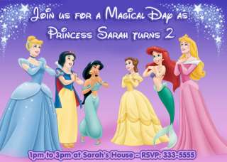 DISNEY PRINCESS BIRTHDAY PARTY INVITATIONS AND FAVORS
