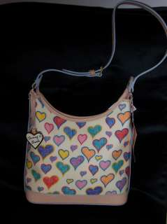 Dooney & Bourke WHITE WITH hearts Handbag Hobo PURSE SP151 NEW WITH