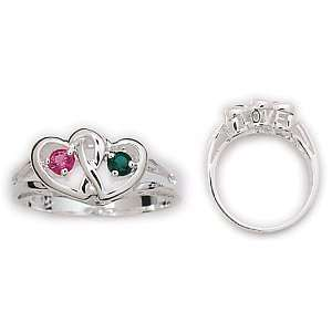 Sterling Silver Couples Heart Ring   Personalized Jewelry Jewelry