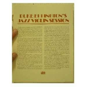 Duke Ellington Press Kit Jazz Sessions