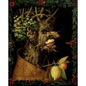 Made Oil Reproduction   Giuseppe Arcimboldo   24 x 30 inches   Winter