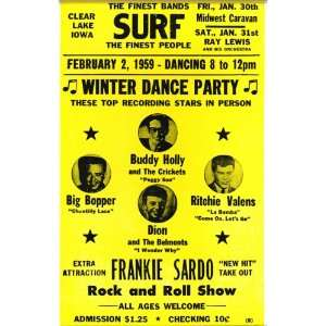 Buddy Holly, Big Bopper, Dion, Ritchie Valens Winter Dance Party 14 X