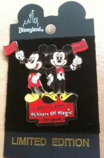 45 Years of Magic Disneyland Pin Mickey Mouse LE