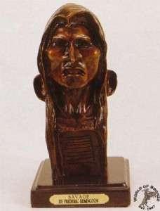 SAVAGE by Frederic Remington Bronze Handcast Statue Sculpture w
