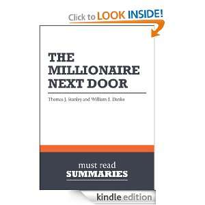 : The Millionaire Next Door   Thomas J. Stanley and William D. Danko