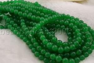 10strands 8mm dark green jade Gemstone loose bead15.5