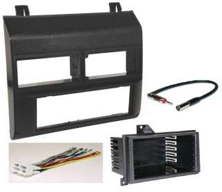 1988 94 GM Trucks Radio Install Dash Mount Kit BLACK + Harness
