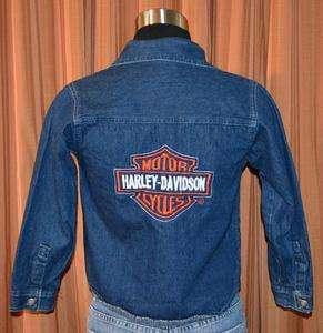 HARLEY DAVIDSON BLUE DENIM JEAN CASUAL 100% COTTON CASUAL HD JACKET