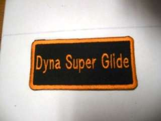 Harley Davidson Motorcycle Biker Patch Patches Dyna Super Glide New