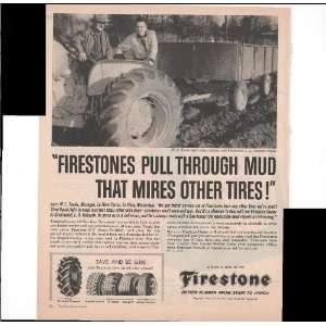 Firestone Farm Tractor Tires Pull Through Mud 1960 Vintage