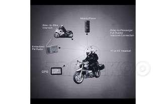 100m FM Motorcycle Helmet Intercom Bluetooth Interphone