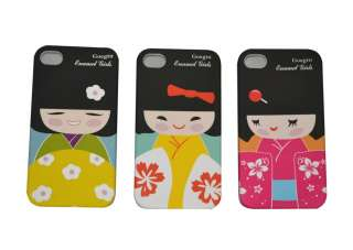 Japanese Kokeshi Doll iPhone 4 4S Case Butterfly Air Mail