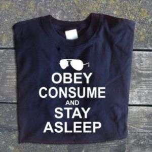 Obey Consume Stay Asleep THEY LIVE Cult Classic TShirt