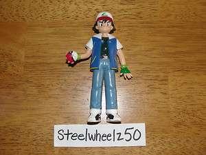 Pokemon Trainer Ash Ketchum 4.5 PVC Action Figure 1998 Tomy Nintendo
