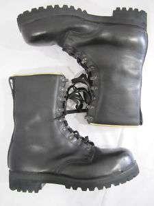 Mens Black Leather Work Boots Vibram soles Sz 8
