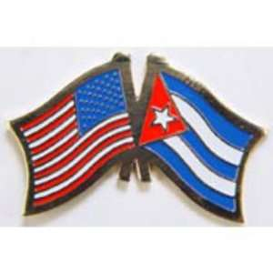 American & Cuba Flags Pin 1 Arts, Crafts & Sewing