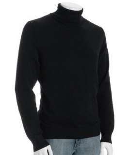 Harrison black cashmere turtleneck sweater