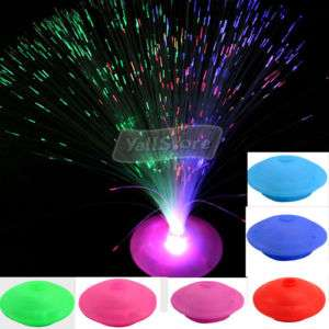 LED Optic Fiber Lamp Night Light Stand Colorful Xmas