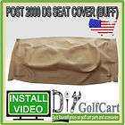 DS Post 2000.5 Golf Cart Seat Back Cover   OEM Backrest   Buff Vinyl