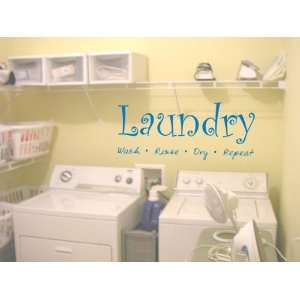 Laundry Room Wall Decal Sticker Wash Fold Rinse Repeat