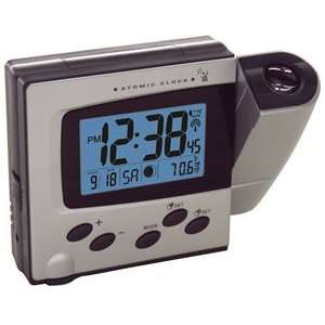 Atomic LCD Projection Alarm Clock Light Stay with Adaptor