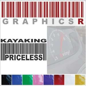 Barcode UPC Priceless Kayaking Kayak Paddling Sea Ocean A712   Yellow