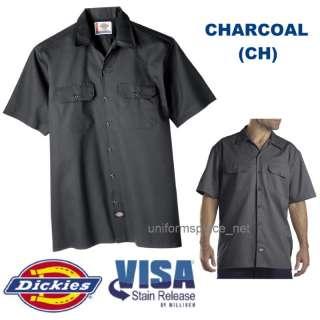 Dickies Mens SHORT SLEEVE Work Shirt Nwt S 6XL CHARCOAL