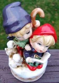 Vintage SHEPHERD CHILDREN CHRISTMAS MUSICAL Figurine