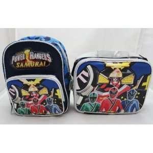 Licensed Power Rangers Samurai Sentai 10 Mini Backpack + Lunch Bag