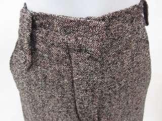 SONIA RYKIEL Black Tweed Wool Trousers Pants Sz 42