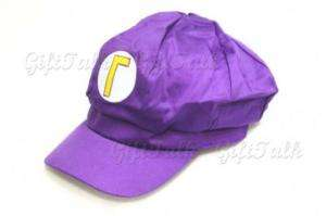 Super Mario Bros Anime Hat Waluigi W Cap Purple Cosplay